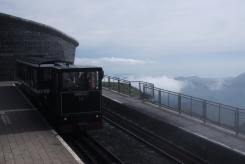 On the way up - Snowdon peak train