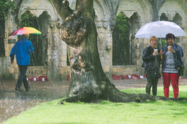Umbrella people in York