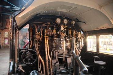 York Railway Museum drivers cabin