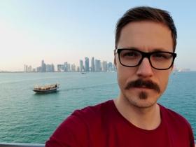 Doha skyline selfie