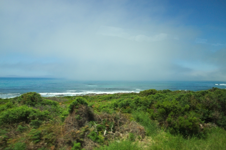 Fog on the horizon Great Ocean Road 2