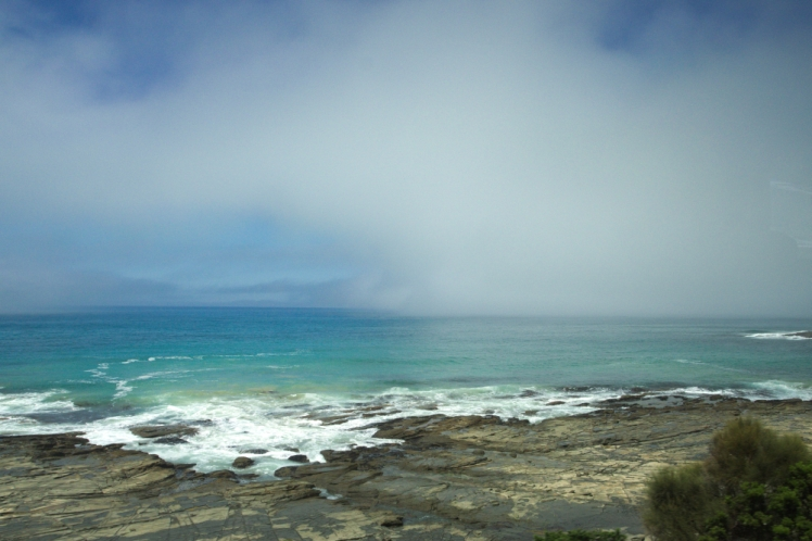 Fog on the horizon Great Ocean Road 4