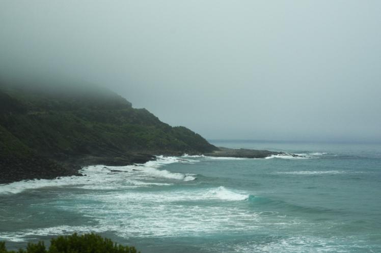 Fog on the horizon Great Ocean Road 6