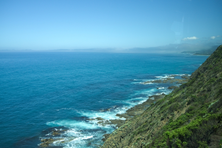 Fog on the horizon Great Ocean Road