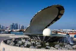 Pearl Qatar fountain