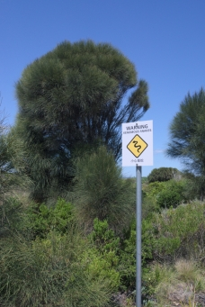 Twelve Apostles warning sign