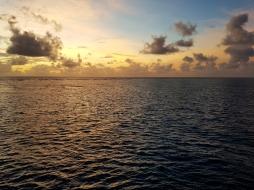 Sunrise in Great Barrier Reef